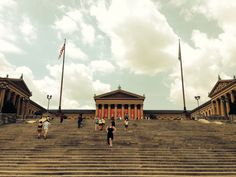 Philadelphia Museum of Art. These are the steps from 'Rocky'