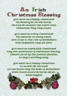 An Irish Christmas Prayer www.VitaminSeaDesign.com | Merry ...