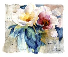 Tree Peonies    Shirley Trevena #watercolor #illustration