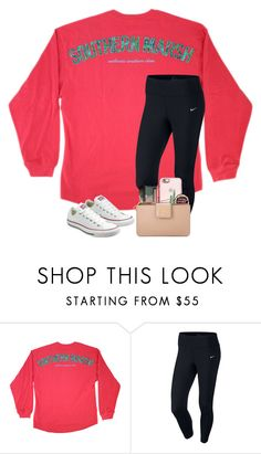 """""""Goodnight y'all!"""" by preppyandsouthern17 ❤ liked on Polyvore featuring NIKE and Converse"""