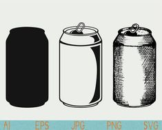 Soda Can Pictures Photo Size Medium 500 Line Drawing