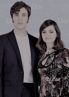 Jenna Coleman and Tom Hughes attend the Victoria Season 2 premiere in London, August 24.
