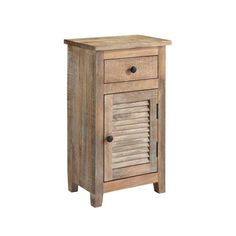 Ashley Furniture Signature Design - Charlowe Nightstand - 1 Cabinet and 1 Drawer - Vintage Casual - Light Brown Pine Nightstand, Hamptons Bedroom, Oversized Pillows, Euro Pillows, Secret House, Wood End Tables, Coffee Tables, At Home Furniture Store, Beige