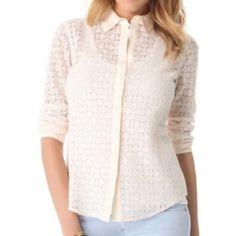 Beige Phoebe Shirt Cream color/silk shirt. NEW w/o tag Club Monaco Tops Blouses
