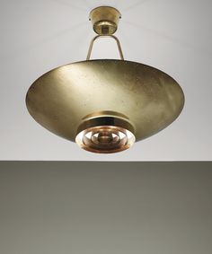 Paavo Tynell; #9060 Brass Ceiling Light  by Taito Oy for the United Nations Secretary-General's Office, c1953.