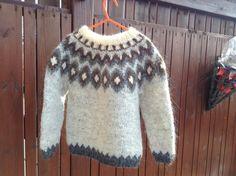 Icelandic sweater for 4 year old handmade 4T made of by Klettur