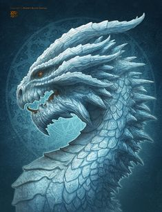 Robert Burke is raising funds for The Deep Sea, Blood & Ice Dragons by Kerem Beyit on Kickstarter! Three new dragons by world renowned fantasy artist Kerem Beyit for the card game Draco Magi. And art prints! Mythological Creatures, Fantasy Creatures, Mythical Creatures, Dragon Images, Dragon Pictures, Fantasy Dragon, Fantasy Art, Ice Dragon, Dragon King