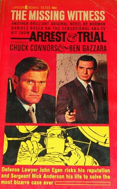 Arrest & Trial: The Missing Witness Chuck Connors, The Rifleman, Abc Tv Shows, Novels, Ads, Posters, Signs, Books, Products