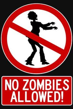 (11x17) No Zombies Allowed Sign Poster Print: Home & Kitchen #zomiesigns #zombieposters #zombiedecals #warning #killzombies #zombiezpocalypse #zombiedecor #zombie_sayings #zombie_stickers #zombie_fun #thewalkingdead #theundead #thelivingdead #gag_gifts #zombie_gifts #tinsigns #woodsigns #printed_posters #zombiefamily http://www.zombieinfestedworld.com/Zombie-Signs-Posters-and-Decals.html