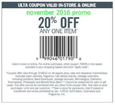 Ulta Coupons Ends of Coupon Promo Codes MAY 2020 !, store region in United Ulta as & in known a the it Salon, place this headqua. Store Coupons, Grocery Coupons, Free Printable Coupons, Free Coupons, Ulta Coupon, Dollar General Couponing, Coupons For Boyfriend, Coupon Stockpile, Extreme Couponing
