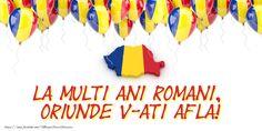 1 Decembrie La multi ani romani, oriunde v-ati afla! 1 Decembrie, Romania, Education, Youtube, Crafts, Countries, Food, Manualidades, Handmade Crafts