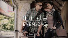 EVENaBAG the short version. EVENaBAG  EVENaBAG – the revolutionary all-purpose shoulder bag for everybody.  EVENaBAG is coming soon on KICKS...www.evenabag.com