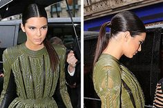 Get Kendall Jenner's Sleek Ponytail #hair