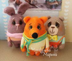 Etsy の Crochet toy pattern Bear bunny and fox PDF by MyCroWonders