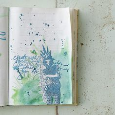 Somerset Place The Official Blog of Stampington  Company   Blog Archive  Dina WakleyInspired Splatter Art Journal Page  FaberCastell Giveaway  Somerset Place The Official Blog of Stampington  Company