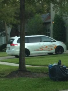 Toyota Sienna. Nice rims, but the flames aren't for me.