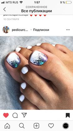 6 kleancolor beautiful glitter set nail polish colorful lacquer manicure + free earring Nail Care And Spa Westminster Md Glow Pink Nail Care Kit! Toe Nail Color, Nail Colors, Nail Art Toes, Beach Toe Nails, Summer Toe Nails, Blue Nails, White Nails, White Glitter, Glitter Nails
