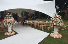 Pedestal Arrangements for Ceremony