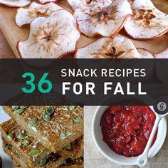 36 Healthy Snacks to Celebrate Fall #healthy #snacks #fallrecipes
