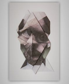 Folded photo portraits into geometric facial sculptures photography dailyshit design ShockBlast