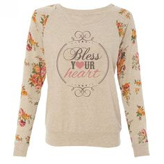 Katydid #Bless Your #Heart Floral #Western Women's T-Shirt $49.95