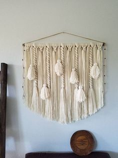 "36"" Tassel wall hanging/Large macramé wall hanging/Woven wall hanging/Yarn wall hanging/Tapestry/Fiber art/Tassels/Banner"