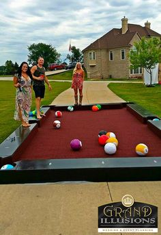 Like playing pool and soccer?? Enjoy playing snook ball on this custom table.  This giant size billiard table played with your feet!!!  Loads of fun for everyone!!