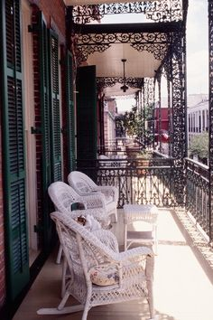 Soniat House • New Orleans  Lovely, artistic and romantic. Coffee with chickory and homemade biscuits on the balcony for breakfast. Heaven.