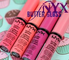 NYX Butter Gloss. Ohhhh my gosh, best lipgloss EVER.  Seriously so smooth.