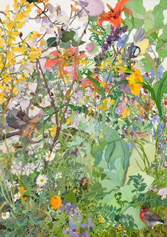 """Spring Garden Street. Watercolor, 40"""" x 30"""". 2013."""