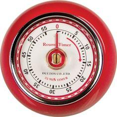 Fox Run Retro Red 60 Minute Kitchen Timer Magnet Espresso Cake Roast Baking
