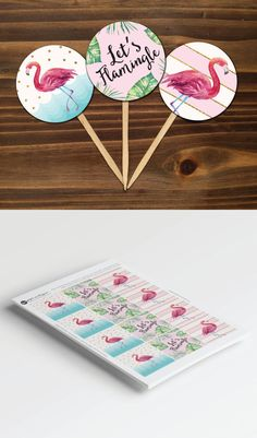 Let's Flamingle Tropical Flamingo Birthday Party Printable