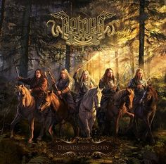 """Cover for Arkona (pagan metal, Russia), album """"Decade of Glory"""". There are going to be 5 other two-pages illustrations inside the booklet. Arkona-Decade of Glory Black Metal, Rock Y Metal, New Fantasy, Fantasy Warrior, Viking Metal, Metal Albums, Fantasy Paintings, Russian Folk, Album Design"""