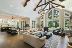 Open concept is the popular look in homes right now, and these 20 gorgeous open-concept rooms show you why it is such a popular aesthetic!