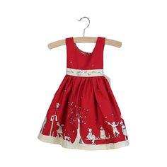 martha aunt eva dress in red by poppy | notonthehighstreet.com