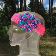 Handmade Single Button Closure Headband