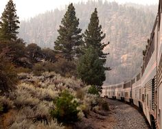 The view from Amtrak's California Zephyr, east of Truckee, Calif., on the way to the Bay Area. Read more