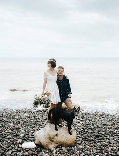French elopement on the bech in Normandy