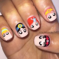 disney princess the_nail_lounge_miramar #nail #nails #nailart