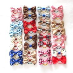 5 pcs/lot 15 Colors Cute Pet Cat And Dog Rubber Band Hairpin //Price: $8.87 & FREE Shipping //     #dogclothes