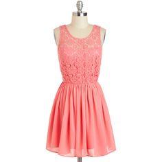 Don't Make Me Blush Dress ($63) ❤ liked on Polyvore