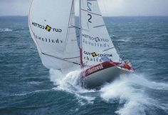 Yes, there are two ways to capsize a boat- this one called pitchpoling. More common on catamarans, but with enough sail area and big enough waves, it can even happen to big monohulls.