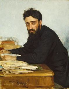 I'm only posting this because I feel like my Pinterest account needs something by an artist whose name is actually Repin. Vsevolod Mikhailovich Garshin 1884 by Ilya Repin