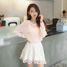 Buy 'WITH IPUN – Lace A-Line Skirt' with Free International Shipping at YesStyle.com. Browse and shop for thousands of Asian fashion items from South Korea and more!