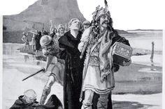 """I år 793 merket engelskmennene for første gang """"nordboernes vrede"""" da det rike og mektige Lindisfarne-klosteret i Northumbria fikk ubudne vikinger på..."""