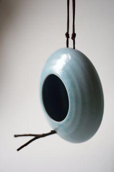 Original ceramic birdfeeder. $26, via Etsy.