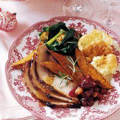 Mustard-Glazed Fresh Ham with Cider Sauce  #christmas #holiday #recipes
