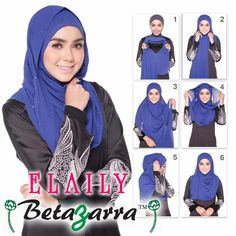 EASY TO WEAR !  6 step how to wear this ELAILY semi instant shawl.  made from HIGH PREMIUM QUALITY CHIFFON.  looking for heavy chiffon shawl? Lets try  ELAILY