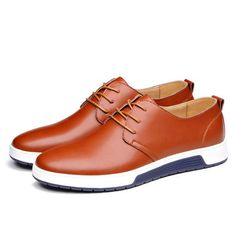 huge selection of 46438 d9b4f Men Pure Color Casual Lace Up British Style Oxford Shoes Oxford Shoes  Outfit, Oxford Sneakers