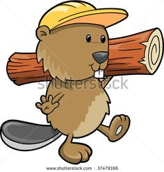 "Beaver | MisterElements | construction beaver! Maybe too ""cute"" but nice expression."